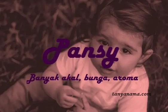 arti nama Pansy
