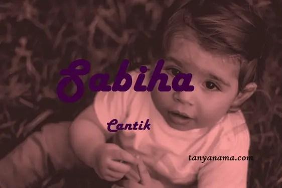 arti nama Sabiha