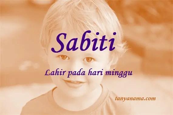 arti nama Sabiti