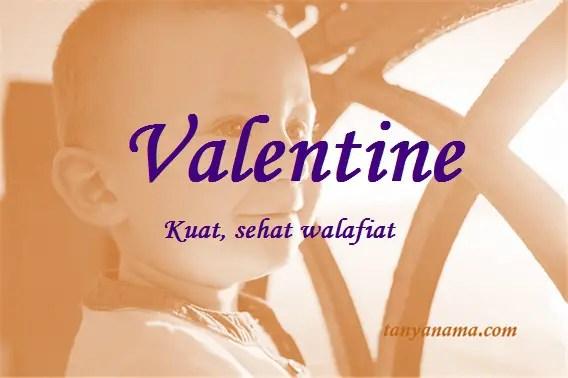 arti nama Valentine