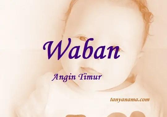 arti nama Waban