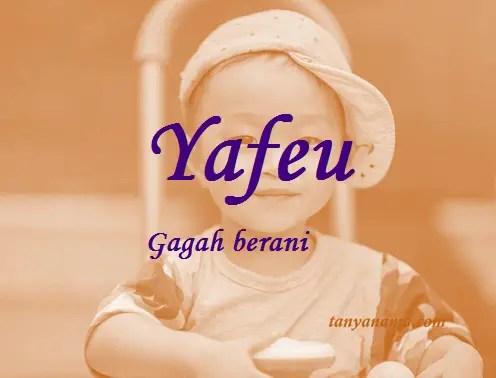 arti nama Yafeu