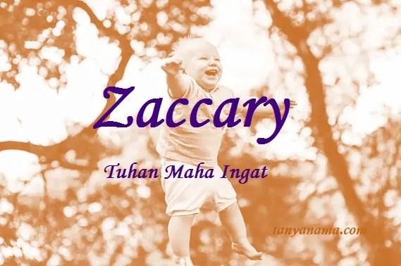 arti nama Zaccary