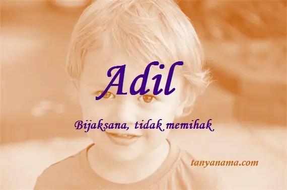 arti nama Adil