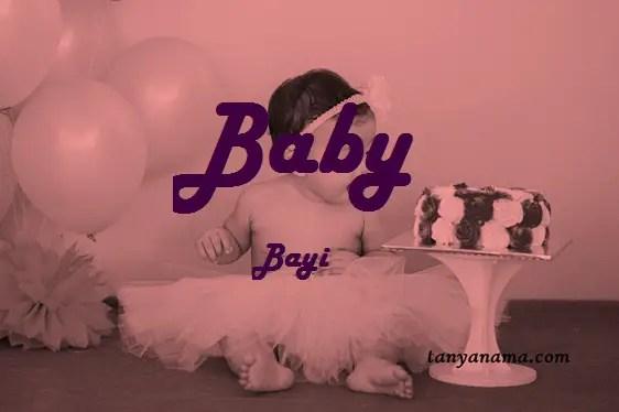 arti nama Baby