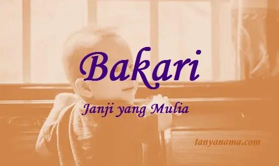 arti nama Bakari