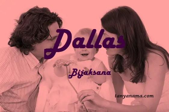 arti nama Dallas