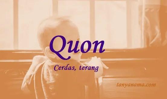 arti nama Quon