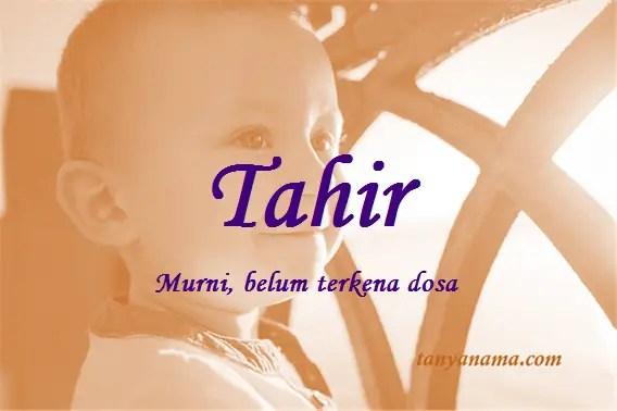 arti nama Tahir