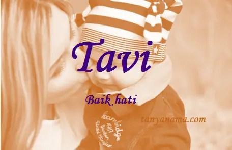 arti nama Tavi