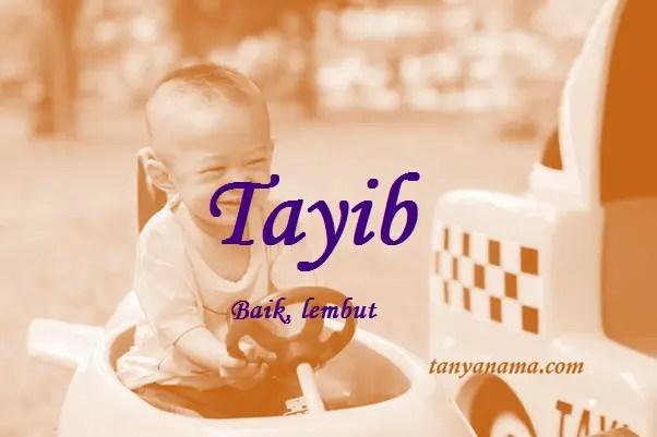 arti nama Tayib
