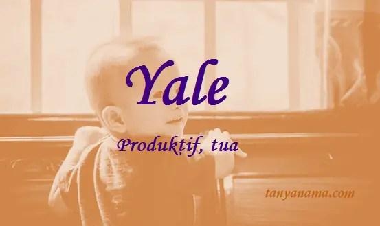 arti nama Yale