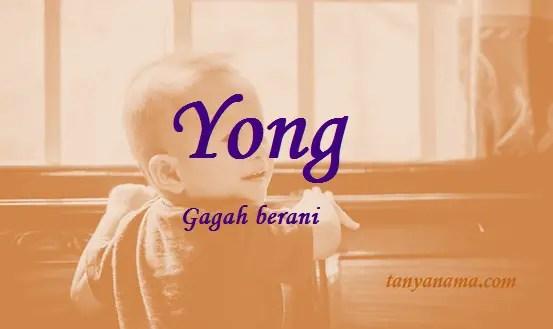 arti nama Yong