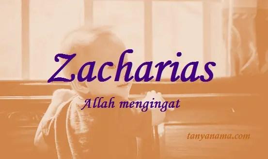 arti nama Zacharias