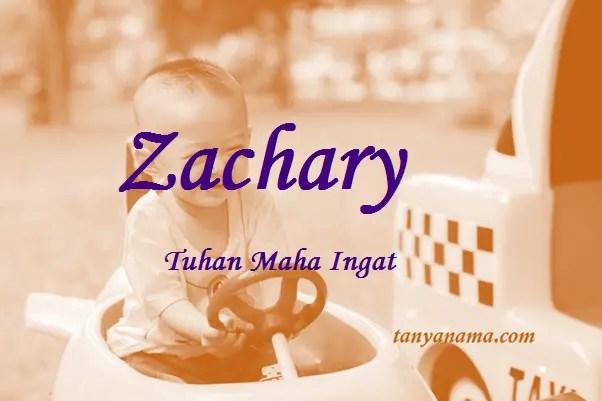 arti nama Zachary
