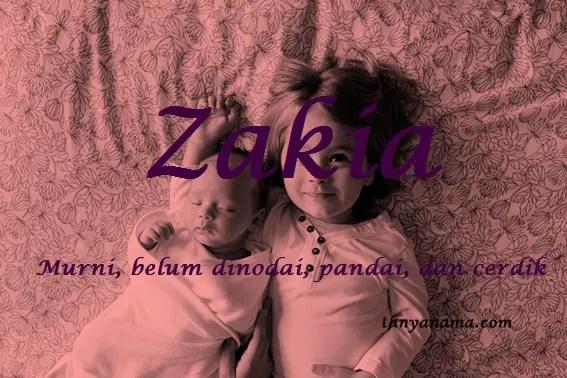 arti nama Zakia