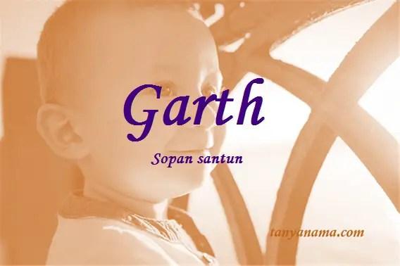 arti nama Garth