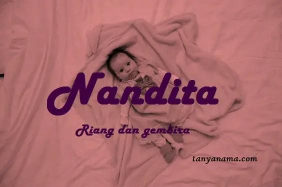 arti nama Nandita
