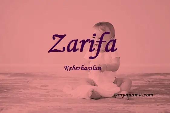 arti nama Zarifa