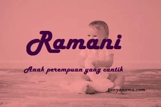 arti nama Ramani