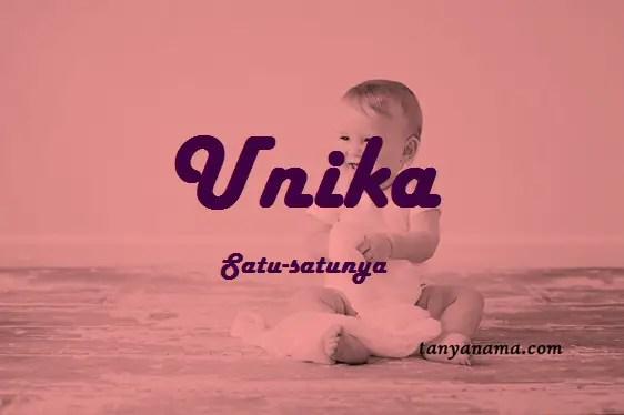 arti nama Unika