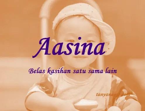 arti nama Aasina