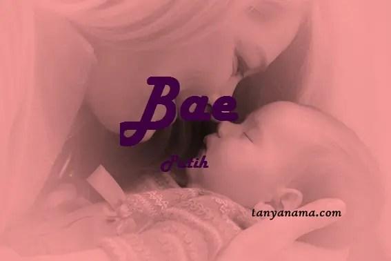 arti nama Bae