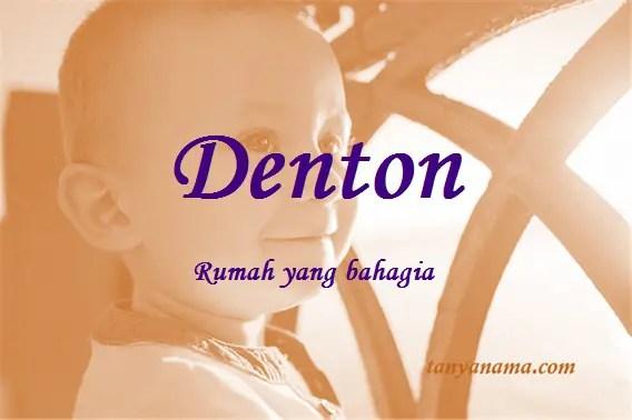 arti nama Denton