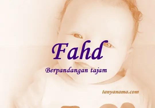 arti nama Fahd