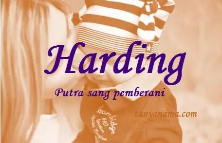 arti nama Harding