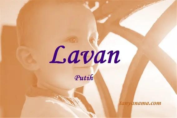arti nama Lavan