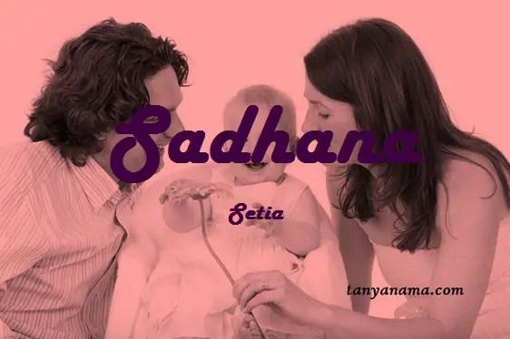 arti nama Sadhana