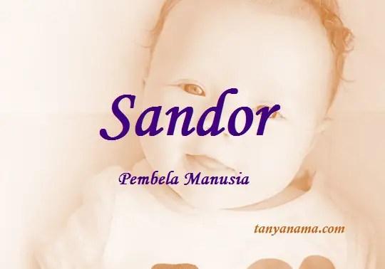 arti nama Sandor