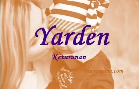 arti nama Yarden
