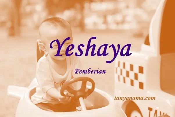 arti nama Yeshaya