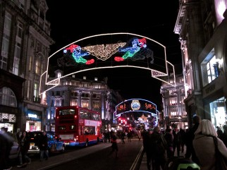 back at Oxford Circus, looking back at the direction i've come, from Marble Arch