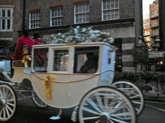 I hope they felt special as they sped off in their magical white carriage.