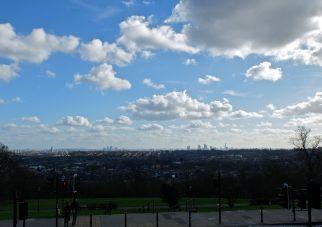 London skyline viewed from Alexandra Palace