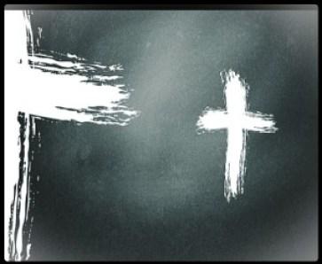 chalkboard cross for blog