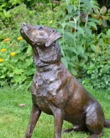 Labrador pair sculpture