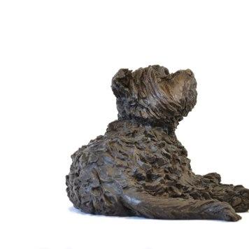 Yorkshire Terrier Lying Sculpture 3 - Tanya Russell Dog Sculpture