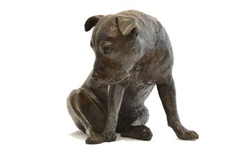 Take Me Home Staffordshire Bull Terrier Sculpture 8 - Tanya Russell Dog Sculpture