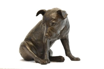 ake Me Home Staffordshire Bull Terrier Sculpture - Tanya Russell Dog Sculpture