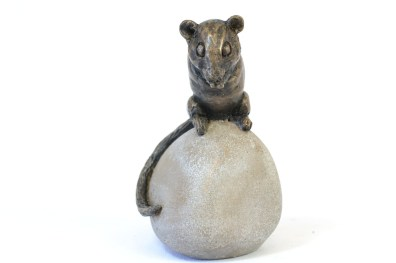 Dormouse sculpture - front view