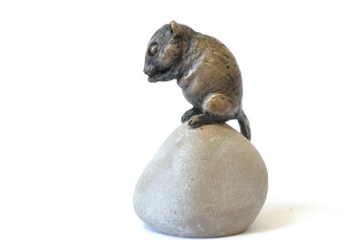 Dormouse sculpture - left side view