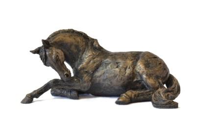 Horse Resting Sculpture - Tanya Russell Animal Sculpture