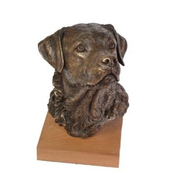 Prince, Labrador Portrait Sculpture - Front view