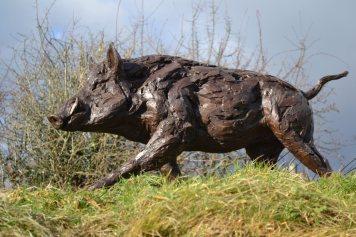 Wild Boar 8 - Tanya Russell Sculpture