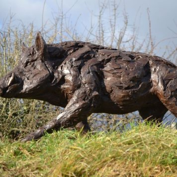 Wild Boar 8 - Tanya Russell Sculpture