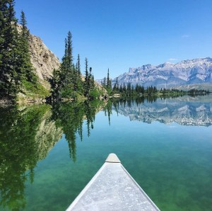 Canoeing on Talbot Lake